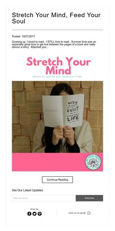 Stretch Your Mind, Feed Your Soul  10 books to inspire