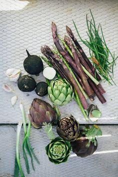 wild purple veges