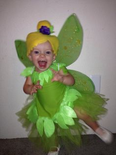 Tinkerbell fairy costume setincludes yellow by UndertheHoneyTree
