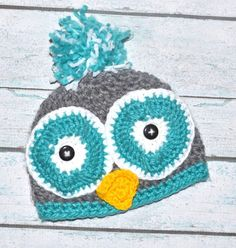 newborn owl hat for girl or boy by SweetBabiesinYarn on Etsy, $18.00