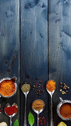 Spice Seasoning Background - So Food Background Wallpapers, Food Wallpaper, Food Backgrounds, Food Graphic Design, Food Menu Design, Food Poster Design, Food Photography Styling, Art Photography, Logo Food