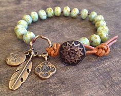 Sea Horse & Starfish Hand Knotted Bracelet by TwoSilverSisters