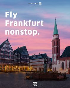 Our new Denver to Frankfurt nonstop flight features connections to over 50 European destinations via our Star Alliance partners. Vacation Places, Places To Travel, Family Vacations, Cool Places To Visit, Great Places, Bone App The Teeth, Moving To China, Wine Tourism, Europe On A Budget