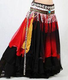 2pics bra+belt handmade beaded belly dance costume set bra top hip scarf 7colors
