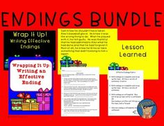 SAVE 20% with this endings bundle!  Endings are an important tool in writing.  This bundle is perfect to use in your writing instruction.  It is Common Core aligned and goes along perfectly with narrative, informational, and opinion writing.  Students will enjoy exploring their creative sides with these resources.