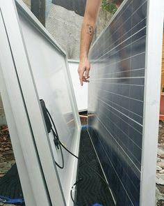 Hello sunshine!!!! We got our solar panels  #diy #solarsystem #offgrid #solarpanels #trinasolar #sustainableenergysolutions #solarpower #freeenergy #nonprofit #buildthefuture #bethechange #hellosunshine