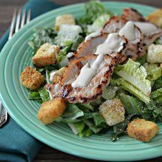 Pork Caesar Salad from Smithfield® #AllstarsSmithfield #DeliciousMealsInMinutes #Ad #AllrecipesAllstars #Smithfield #CaesarSalad #MyAllrecipes