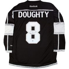 Steiner Sports Memorabilia Drew Doughty Autographed Black Los Angeles... ($280) ❤ liked on Polyvore featuring tops, jersey tops, steiner sports, black jersey top, sport tops y sports tops