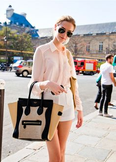 blouse | white shorts