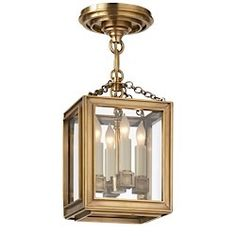 Visual Comfort Chart House by E. F. Chapman Lund Pendant in Antique-Burnished Brass CHC 2251AB