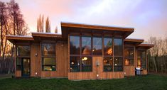 pre fab timber frame homes from seattle company FabCab...the larger homes are Very Expensive, but supposedly shipped to your site as a kit, eco friendly, blah blah blah...