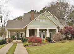 I love the look of this house. From the covered front porch to the craftsman styling. I really like the carport!