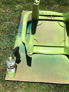 Has your outdoor furniture seen better days? Check out this easy DIY face lift idea and learn how to paint your old dirty plastic chairs to give them new life. Patio Furniture Makeover, Chair Makeover, Outdoor Furniture, Outdoor Sofa, Hanging Swing Chair, Swinging Chair, Timber Shelves, Plastic Chairs, Wooden Side Table