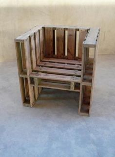 pallet furniture for outdoor use. You could sew some cushions to put on it.