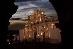 Cathedral At Night In Antigua Guatemala