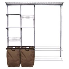 A perfect addition to your guest room closet or mudroom, this versatile storage system effortlessly organizes your clothing and accessories.