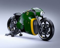 Despite its recent troubles, Lotus has made its initial foray into the motorcycle market—sort of. Although the newly unveiled Lotus motorcycle bears the Lotus name, it was actually built … Concept Motorcycles, Motorcycles For Sale, British Motorcycles, Vintage Motorcycles, Motorcycle Design, Bike Design, Steampunk Motorcycle, Trike Motorcycle, Classic Motorcycle