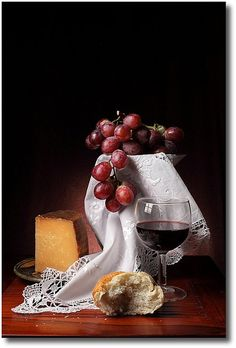 Wine and cheese.