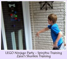 Click here to read about my son's LEGO Ninjago Birthday Party.   Because there are no commercially produced LEGO Ninjago party decorations, ...