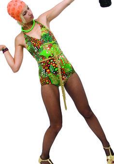 1970- Un maillot de bain avec l'imprimé tipique, doublé de dentelle, collection privée © Solo-Mâtine Corset, Lingerie, Rave, Vintage, Collection, Style, Fashion, Swimsuit, Lace