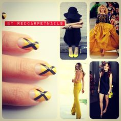 Get these super cool #ontrend #yellow #black #elle #fashion #stripe #summer #fall #autumn #nails by RedCarpetNails for £15 book now 1redcarpetnails@gmail.com Elle Fashion, Autumn Nails, Summer Fall, Yellow Black, Cool Stuff, Book, Pretty, Cool Things, Books
