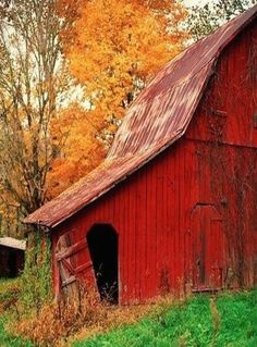 Best Ideas For Rustic Red Barn Door Country Life Farm Barn, Old Farm, Country Barns, Country Life, Country Living, Country Fall, Country Roads, Barn Pictures, Red Barns