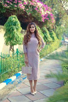 Lady Like- Lace Middi Dress