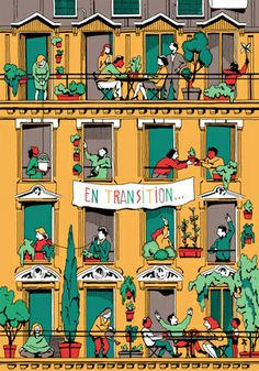 "TRANSITION CITIES illustration by Vincent Mache for a book entitled: ""Generation…"
