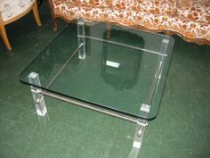 Shop coffee and cocktail tables and other modern, antique and vintage tables from the world's best furniture dealers. Vintage Coffee, Vintage Table, Table Furniture, Cool Furniture, Lucite Coffee Tables, Table 19, Cocktail Tables, Coffee Shop, Antiques