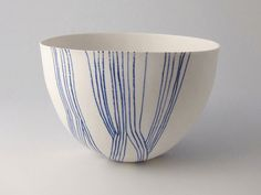 <h5>Traces 2.</h5><p>Hand decorated cast porcelain.<br>H 12cm D 16cm</p>