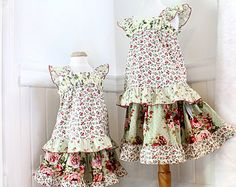 Girls Floral Skirt & Top Set Matching Sister Outfits Big Sister Little Sister Dress Sizes 12m-14 Boutique Girl Clothes Boho Kids Clothes
