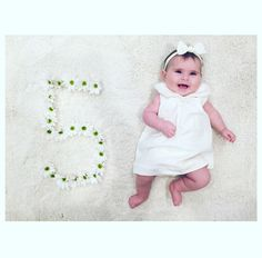 @vart_apikian Emma Rose/ baby 5 month photo shoot flowers
