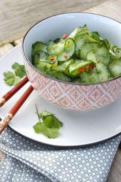 Komkommersalade met koriander en limoen | Francesca Kookt! | Bloglovin'
