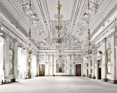 For Sale on - Palazzo Pitti, Sala Bianca, Firenze, C Print by Massimo Listri. Baroque Architecture, Minimalist Architecture, Beautiful Architecture, Beautiful Buildings, Beautiful Places, Le Palace, Classic Interior, Florence Italy, Ceiling Design