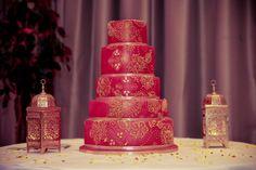 Mehndi Cake 5 tiers, as shown to serve as dessert. Mehndi Cake, Bollywood Wedding, No Bake Cake, Pills, Bride Groom, Reception, Product Launch, Baking, Sweet