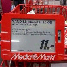 Wat je tegenwoordig al wel niet kan met een 16 Gigabyte SD kaartje ;)