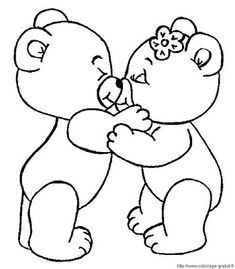 Ursinhos apaixonados   Lucia Helena Cesar   Flickr Valentine Coloring Pages, Bear Coloring Pages, Colouring Pics, Printable Coloring Pages, Coloring Pages For Kids, Coloring Books, Art Drawings For Kids, Cute Drawings, Bear Drawing