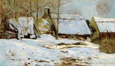 "maufra maxime cabins under the snow 1891 sotheby (from <a href=""http://www.oldpainters.org/picture.php?/30154/category/13215""></a>)"