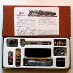 NIB HO Roundhouse 4-4-2 ATLANTIC Steam Engine/Tender Kit ATSF Undecorated 1974   #Roundhouse