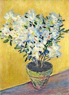 White Azaleas in a Pot, 1885 Claude Monet