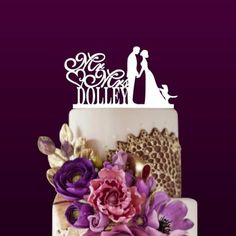Custom Wedding Couple Cake Topper