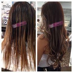 Mais uma cliente rendida ao nosso cabelo liso de 65 cms de comprimento. Aplicação e coloração realizada pelo Atelier das Extensões na Quarteira/Algarve.   Loja do Cabelo... O melhor cabelo, os melhores resultados!
