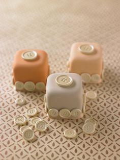 Use a button mold to create little mini cakes :)