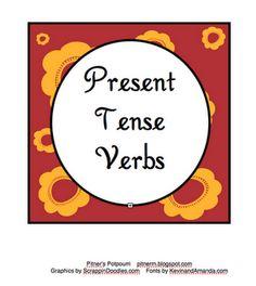 Pitner's Potpourri: Verbs Present Tense Freebie