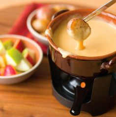 Gouda/Beer Fondue-- this would probably be like the applebees beer cheese melt that's SO DELICIOUS.