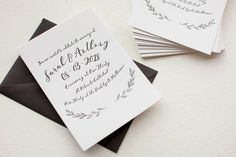 See the winner of our Less is More design challenge. Go Jessica! We love your letterpress wedding invitation design