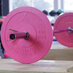 High-Quality Rubber Bumper Plates - Pink Pair - X Training Gym Room At Home, Home Gym Decor, Training Equipment, No Equipment Workout, Kickboxing Women, Ab Day, Pink Gym, Battle Ropes, Power Rack