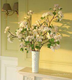 Новинки : Ветки цветущей яблони. Ручная работа из глины. - Fito Art