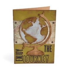 Enjoy the Journey Card #2 by Tim Holtz using vintage globe.