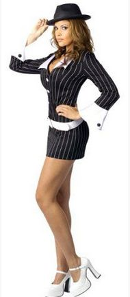 sexy gangster be a tough cookie in a strpied pin suit sexy halloween costume for womencostumes - Tough Girl Halloween Costumes